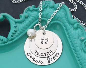 New Baby Name Necklace • New Mom Gift Baby Memorial Necklace • Personalized Baby Necklace Baby Loss Gift • Mom Necklace Mommy Gift