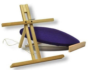 Bobbin Lace Pillow Stand, holds your pillow at the ideal angle for bobbin lace work. Pillow not included