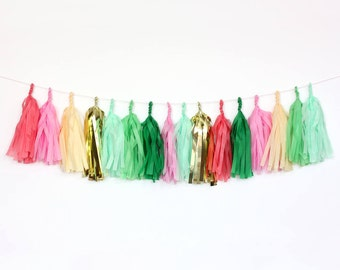 Tropical Tissue Tassel Garland Kit