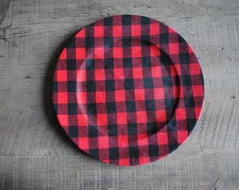 Red Buffalo Plaid Charger