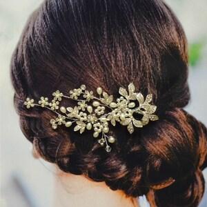 Versailles Bridal Hair Comb, Wedding Hair Comb, Pearl and Crystal Hair Comb, Wedding Hair Accessories, Floral Bridal Headpiece