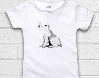 Cute Kids Clothes, Cute Toddler Clothes, Unique Kids Clothes, Fall Kids Clothes, Bear shirt, Autumn, Holiday Gift, Grizzly Bear