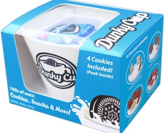 Dunky Cup - For Oreo Cookies & Milk and More! - Free Shipping - 4 Oreo ® Cookies Included