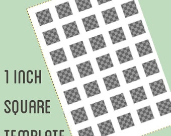 Digital collage template - 1 by 1 inch square - Do It Yourself digital collage - instant download