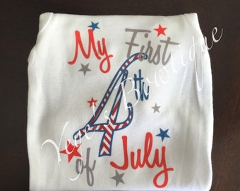 Baby Boy First Fourth of July Onesie | 1st Fourth of July | First 4th of July | 1st 4th of July