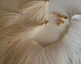 White d ostrich feathers decoration Kit