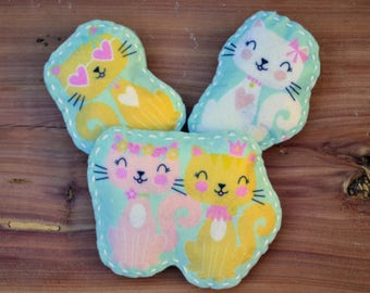 Cat Themed Catnip Toy! Organic catnip cat lovers noise making cat toy hand stitched handmade toy unique
