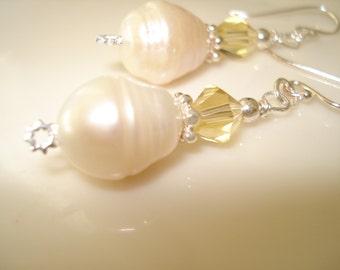 Boucles d'oreilles perles, argent Sterling boucles d'oreilles, solde