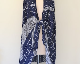 Batik Chic - Aztec Navajo Print Kimono Duster Wrap, Boho Kimono Wrap, Plus size, Navajo Print Kimono, Boho Kimono Women's Kimono Duster