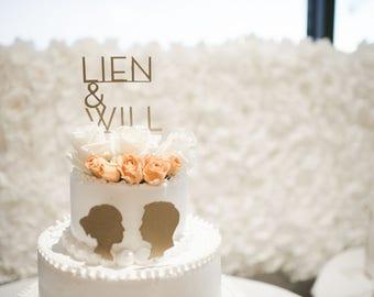 Custom Laser Cut Minimal Script Cake Topper