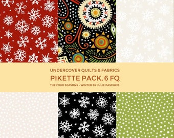 The Four Seasons - Winter, In the Beginning Fabrics, Julie Paschkis, Pikette Pack, 6 FQ