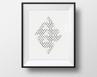 mid-century wall print, Minimalist Art, Geometric Prints, black and white, Abstract Art, Contemporary Art, black and white prints