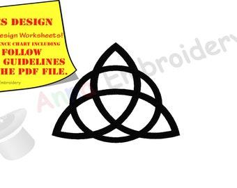 Triquetra Celtic Knot Machine Embroidery Design,Celtic symbols,Spiritual,filled stitch,machine patterns,9 sizes,8 formats,INSTANT DOWNLOAD