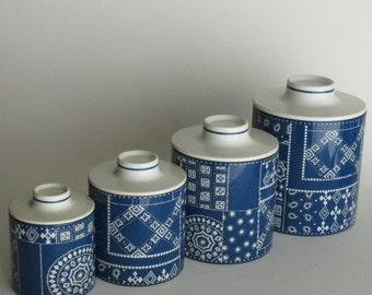 vintage kitchen decor - Ransburg Canister Set - 4 canister set