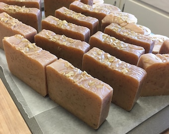 3 Bars - Handcrafted Oatmeal Milk and Honey Soap