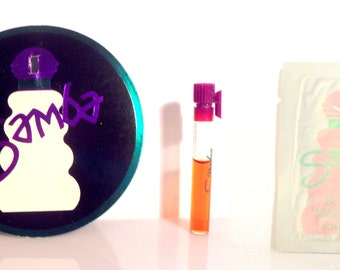 Vintage 1980s Samba by Perfumer's Workshop Perfume & Lotion Sample Vial on Card PERFUME