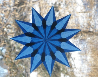 11-Pointed Blue Waldorf Window Star