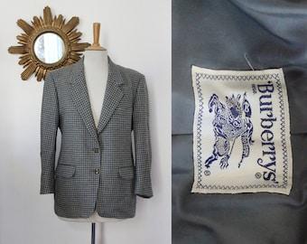 Jacket, blazer Burberrys Prorsum, France, 100% wool, tiles, houndstooth, tweed, sport jacket, vintage, Fr 44, Uk 16 US 12, XL