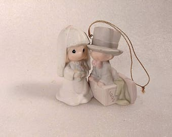 "Vintage Precious Moments Christmas Ornament ""Our 1st Christmas Together"""