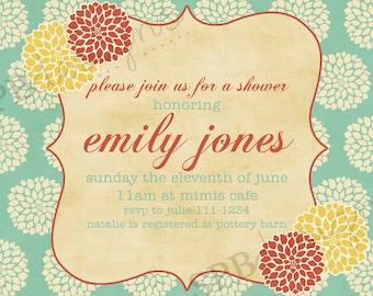 Einladung zur Babyparty oder Brautdusche Einladung--Mums