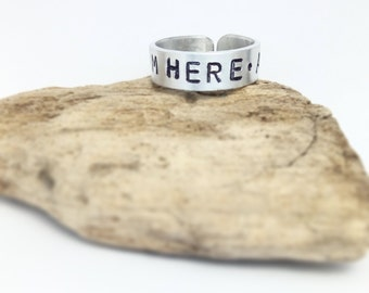 Personalized rings - Stackable name rings - Name rings - Birth date rings - Engraved rings - stacking rings, coordinates ring, couple rings