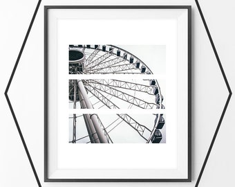 Ferris Wheel Print, Carnival Wall Print, Ferris Wheel Art, Carnival Art, Carnival Wall Decor, Instant Download, Gallery Decor, Wall Pictures