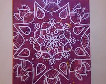 Mixed media Mandala canvas