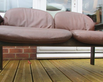 A 1960s Vintage Sofa by Wilkahn in leather unique and very rare