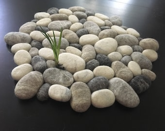Alfombra del fieltro piedra redonda