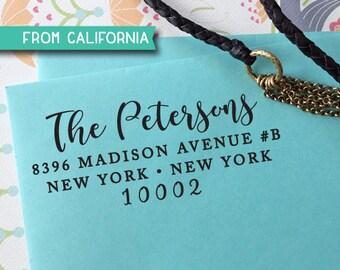 Custom Address Stamp, Self Ink Return Address Stamp, Personalized Address Stamp, Self Ink Custom Address Stamp, Calligraphy, RSVP stamp 327