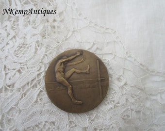 Antique high jump medal/plaque for the collector signed Henry Dropsy