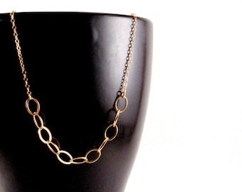 Dainty Gold Necklace, Everyday Gold Chain Necklace, Simple Gold Necklace, Short Gold Layering Necklace, Delicate Gold Chain Necklace