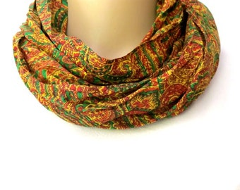SALE! Silk scarf, Infinity Scarf, Sari scarf,  Loop Scarf