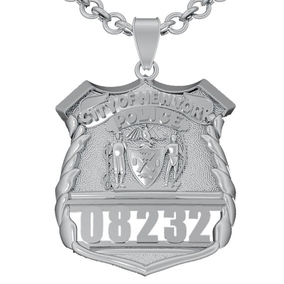 Nypd shield pendant police officer sterling silver aloadofball Images