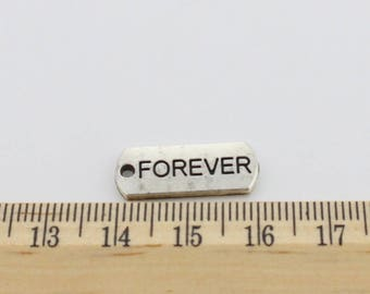 5 Forever charms antique silver tone Charms - EF00202