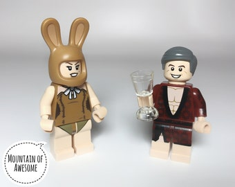 Hugh & Bunny MiniFigure Set + Wine glass + All LEGO® parts