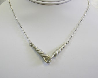 Rope Pendant Necklace, Sterling Silver, 16 + in. Chain, HEAVY!