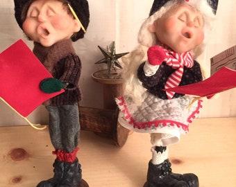 Christmas- OOAK Dolls Christmas Caroler Kids- DoReMe N Friends - NonnasSantas- Christmas Music - - Handmade Dolls