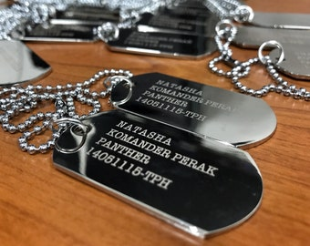 Mens Personalized Dog Tag Necklace - Husband Gift - Boyfriend Gift - Engraved Necklace - Gift for Dad - Custom Dog Tags
