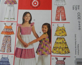 McCalls M5310 Children's and Girls Top, Skirt and Pants in sizes 3-4-5-6 (uncut)