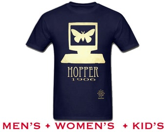 Grace Hopper Shirt - Computer Programming, COBOL Computer Scientist, Rock Star Female Scientist, Women in STEM, Women's Science Tshirt