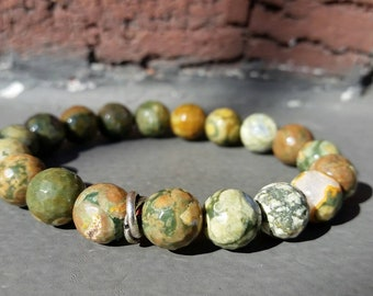 Rainforest Rhyolite Power Bracelet, Healing Crystals