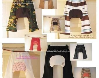 KIDS TROUSERS - PDF e Pattern - Monkey Pants - Size 1Y