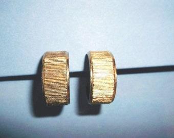 Gold Tone Hoop Earrings - Sarah Coventry