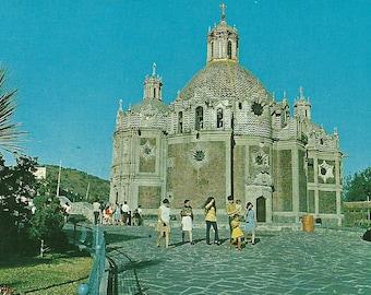 Vintage 1950s Postcard Little Well Chapel Villa de Guadalupe Mexico Kitschy Tourist Unused