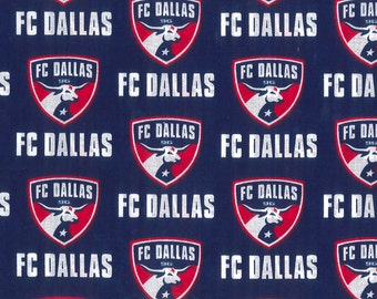 FC Dallas Soccer Club MLS 100%Cotton Fabric sold by the yard