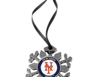 New York Mets Snowflake Christmas Ornament