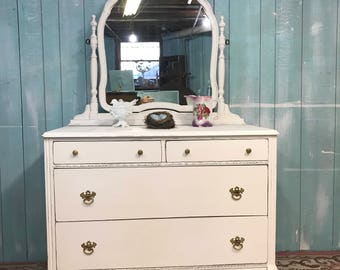 Antique dresser should be chic white distressed cottage