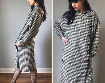 Vintage 80s Houndstooth Dress Jacket
