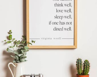 Virginia Woolf Quote Printable Quote Downloadable Art-Virginia Woolf Quote Typography Print Wall Art Decor